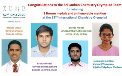 Sri Lanka won 3 Bronze medals and an honorable mention at 52nd ICHO 2020